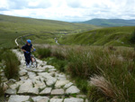 Pushing up the flank of Whernside