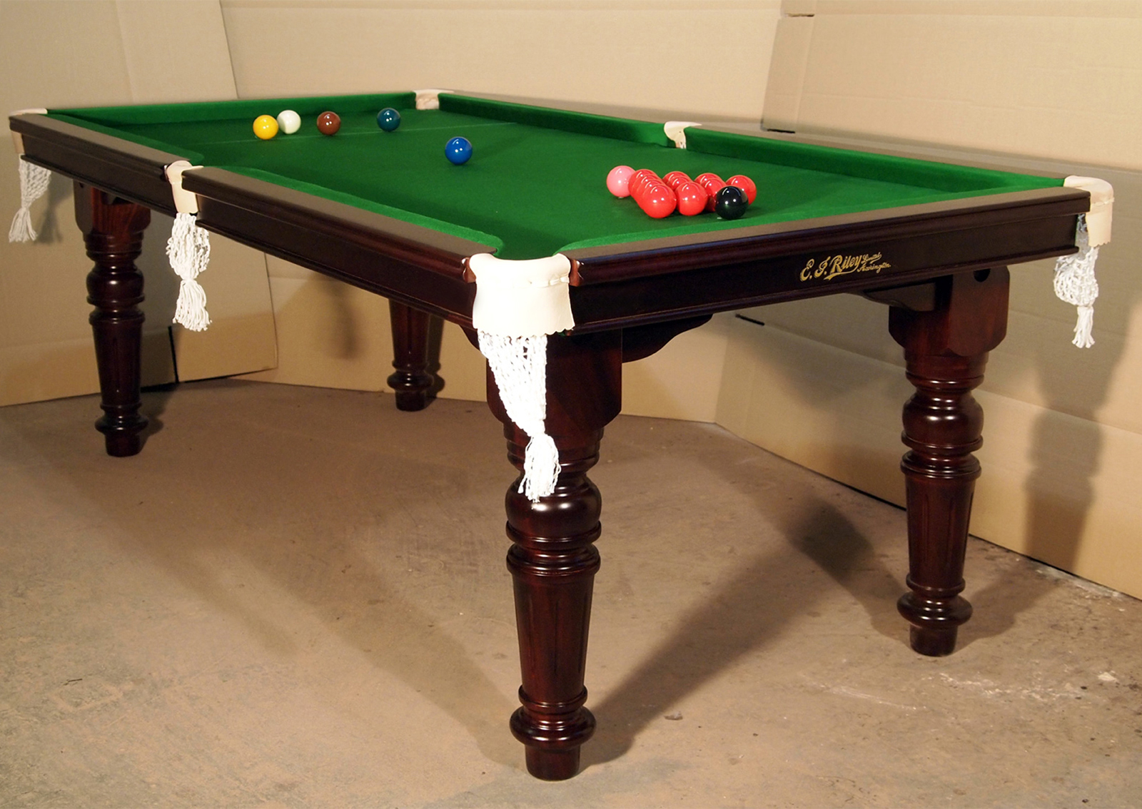 6ft e j riley snooker dining table antique refurbished