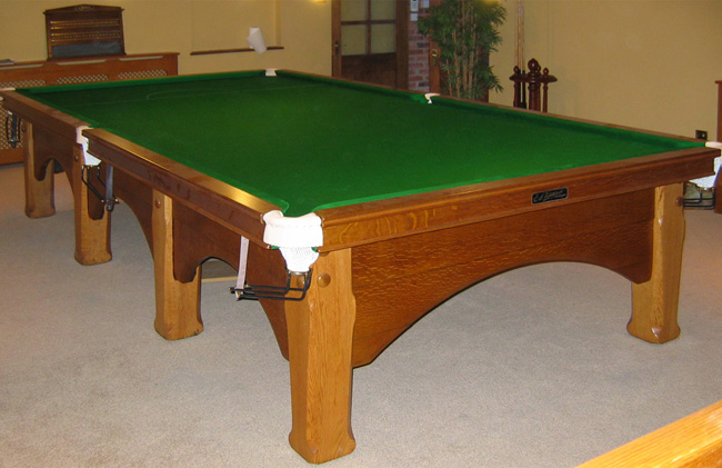12ft e j riley viceroy snooker table in solid oak for sale for 12 ft snooker table